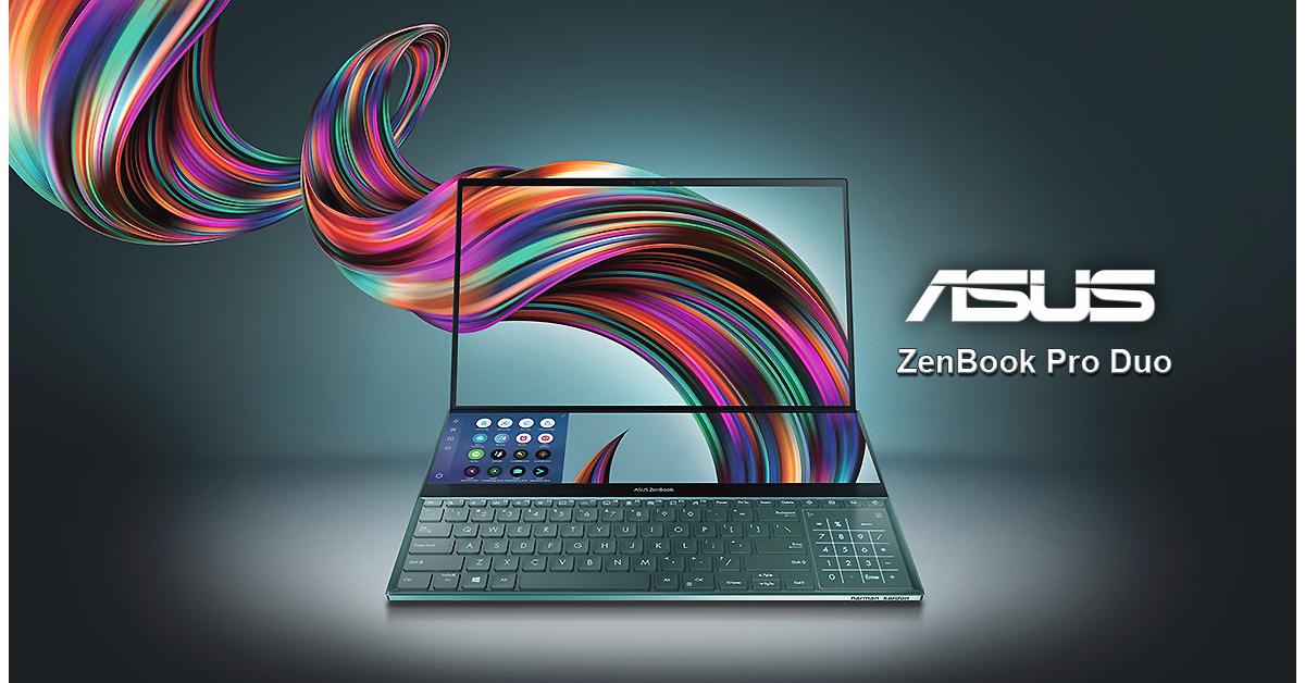 ASUS lanseaza ZenBook Pro Duo, laptopul cu doua ecrane
