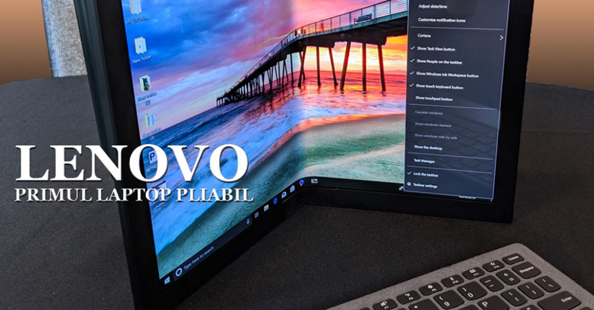 Lenovo dezvaluie primul laptop pliabil